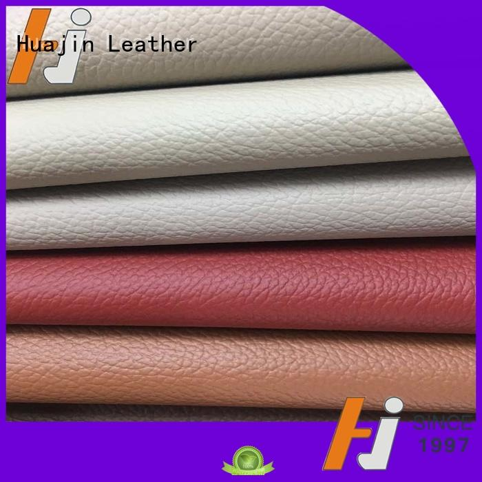 hjc004 perforated leather fabric imitation for car HUAJIN