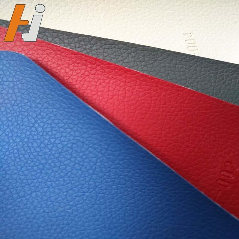 PVC leather for car with knitted fabric  HJC004