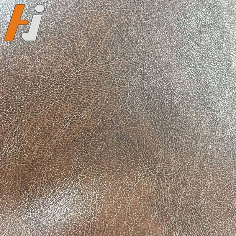 Double color artificial leather for furniture pass TUV F006