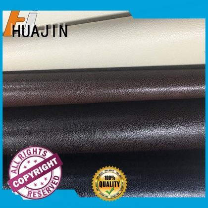 HUAJIN waterproof leather material for upholstery strength for furniture
