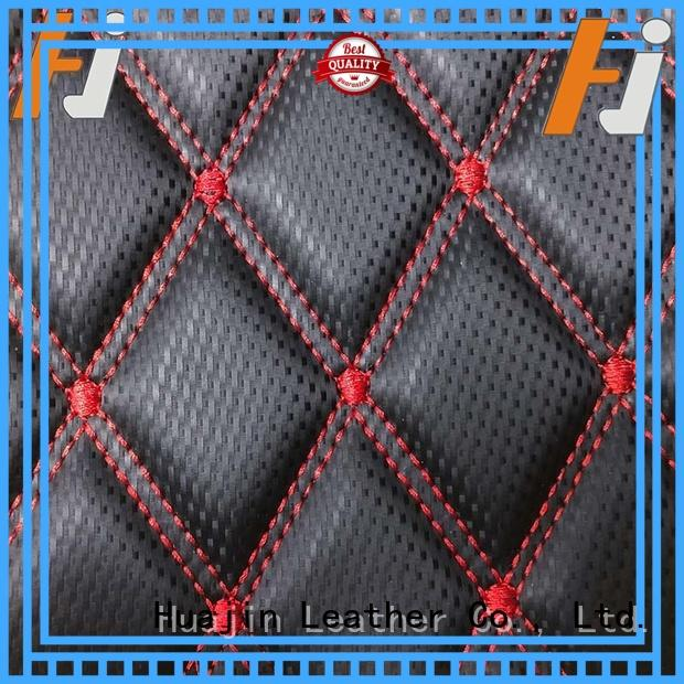 HUAJIN synthetic leather material design for floor mat