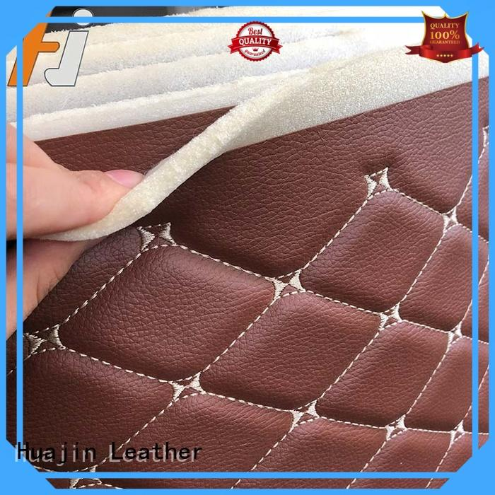 HUAJIN laminated faux leather roll with sponge for car seat