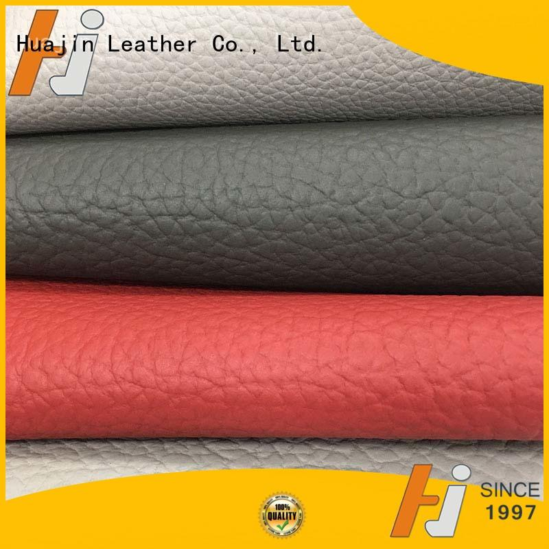 HUAJIN competitive synthetic leather fabric factory for furniture