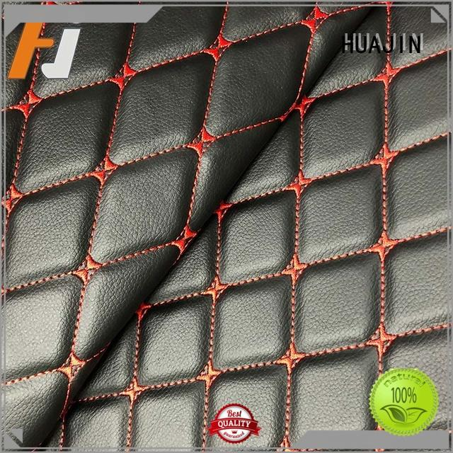 leather material fabric for floor mat HUAJIN