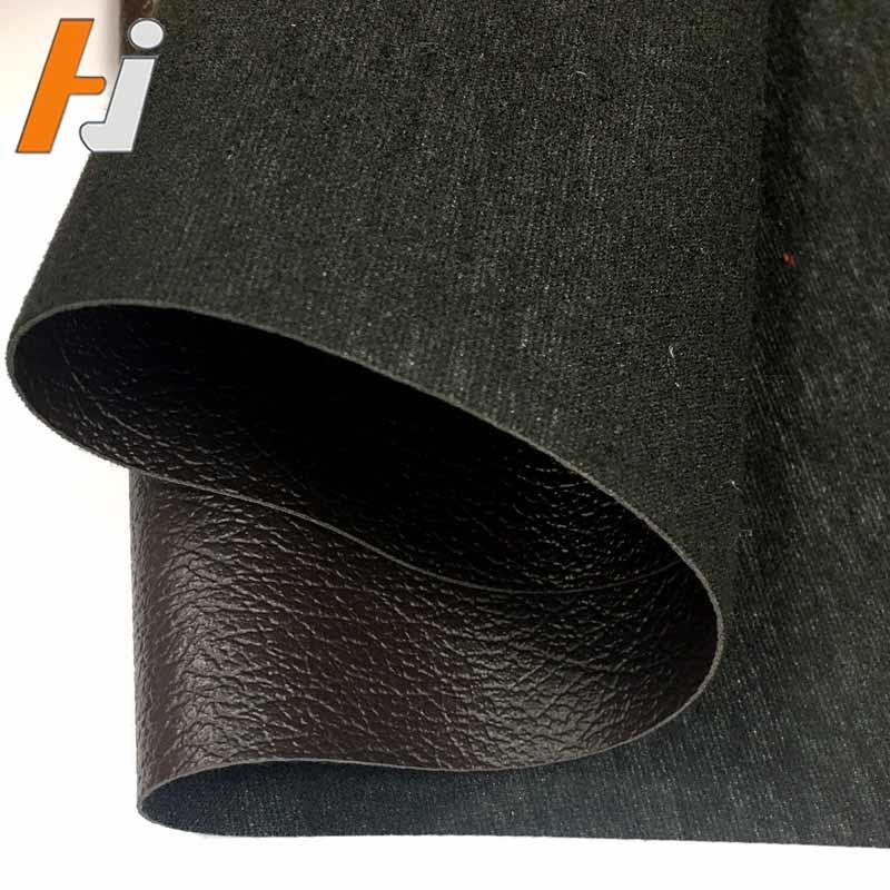 Cheaper good quality brush backing PVC leather for sofa