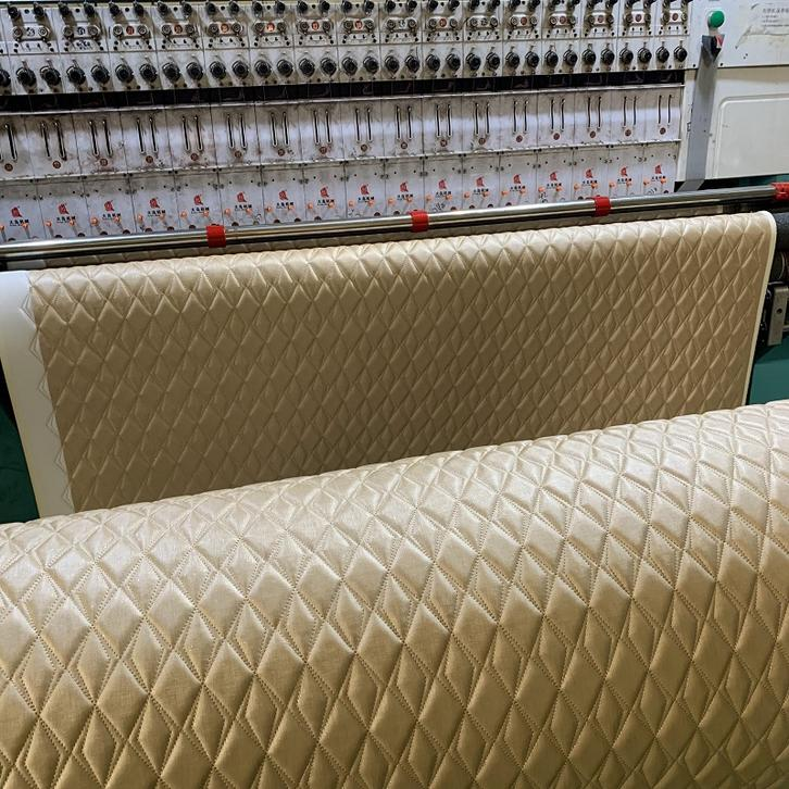 stitching pvc leather with sponge for car seat cover